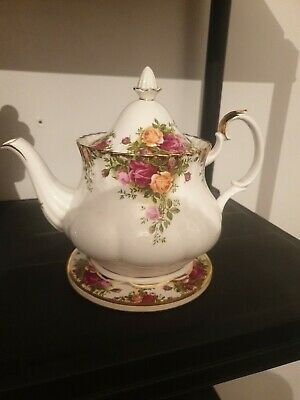 Royal Albert  Old Country Roses   Large Teapot + Stand  • 32£