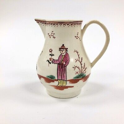 A Rare 18thc. Liverpool Creamer, Painted With The  Smoker's Valet  Pattern. • 175£