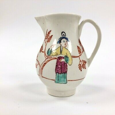 A Rare Mid 18thc. Liverpool Phillip Christian Painted Sparrowbeak Jug • 175£