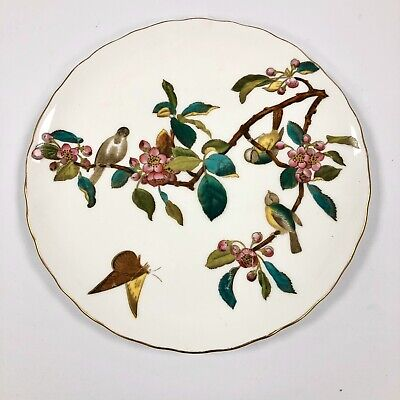 An 1874-91 George Jones Crescent Plate-Transfer Pattern With Overpainted Enamels • 47.50£