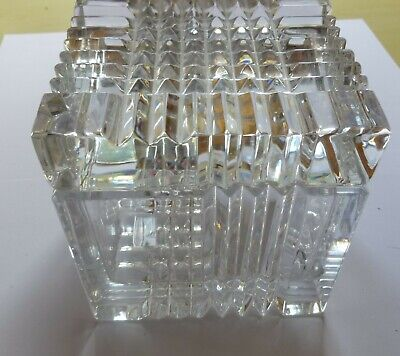 Beautiful Very Large Crystal Trinket Box With Lid • 29.99£