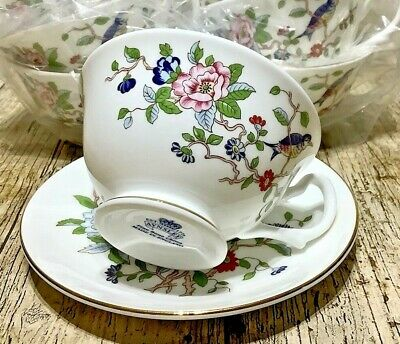 Aynsley 'Pembroke' Small Teacup And Saucer Never Been Used! Made In England. • 25£