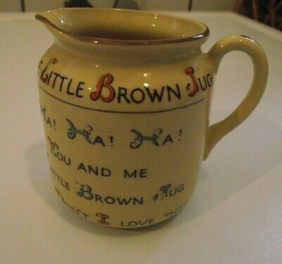 The Little Brown Jug, W.h. Goss, Royal Buff, Rhyme On Side , Victorian ?  • 12.99£