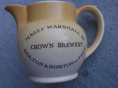 Magee Marshall Crown Brewery Bolton & Burton 3 1/2  Small Water Jug • 25£