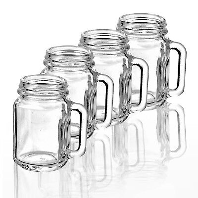 Set Of 4 35ml Mason Jar Shot Glasses Alcohol Vodka Shooter Drinking Games Party • 6.49£
