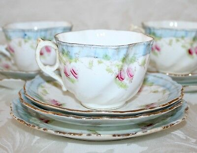 Pretty Antique Early 1800's Hand Decorated Porcelain Tea Set • 39.99£