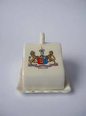 Vintage Gemma Crested China Minature Cheese Dish - Chester • 4£