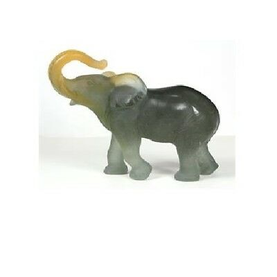 Daum Crystal Collectibles Elephant In Amber And Gray. Discontinued NEW In Box • 664.15£