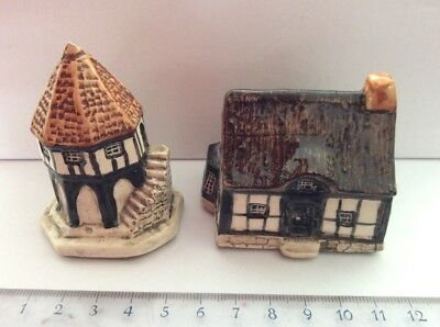 Tey Pottery Countryside Collection Britain In Miniature. No. 26   No. 28. ExC • 30£