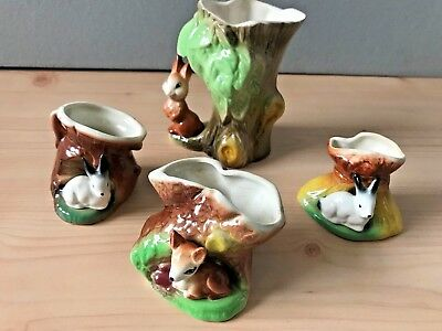 Pottery Lot Withernsea Eastgate Lovely Items Rabbits Fauna Vintage Retro • 36£