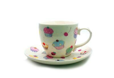 Cupcake Cup And Saucers X 6 Fine China  • 15£