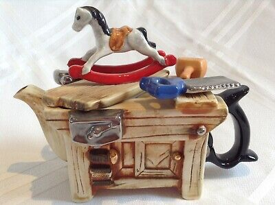 Teapottery Collectable Novelty Teapot Horse Bench Medium Size Perfect Condition • 20£
