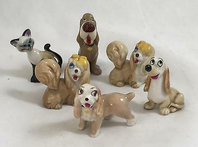 Wade Walt Disney Hat Box Lady & The Tramp Collection Peg Trusty Lady Si & Dachie • 34.99£