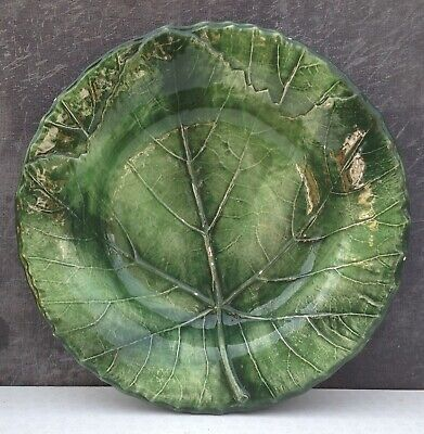 Vintage Cabbage Design Majolica Style Plate Or Shallow Bowl Made In Italy • 15£