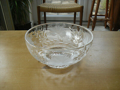Stuart Crystal Floral Footed Fruit/Serving Bowl - 8 (>20.25cms) • 29.50£