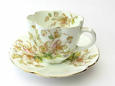 Antique Ceramic/Porcelain 6 Fluted Cup And Saucer • 14.98£