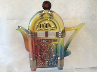 *teapottery Swineside Novelty Collectable Large Jukebox Teapot Great Condtion • 35£