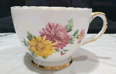 Vintage Retro Sutherland Extra Large Oversized Tea Cup Bone China Pink Flowers • 15£