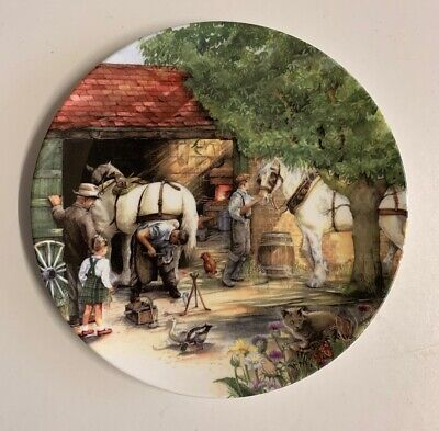 ROYAL DOULTON  The Blacksmith  By Susan Neale Collector's Plate • 9.99£