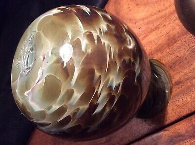 James Cleary Studio/Art Glass Vase Signed Handblown. Marble Effect. • 11.50£