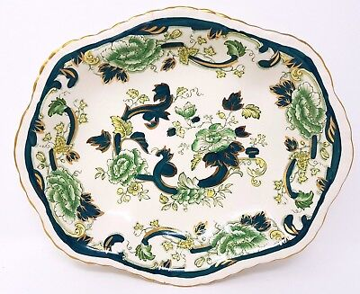 Masons Chartreuse - Oval Fluted Serving Dish/Bowl - Pie Crust Detail - 11  Inch • 29.99£