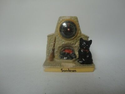 Vintage Manor Ware Design SAR Sandown Fireplace Thermometer Cat Collectable B5 • 25£