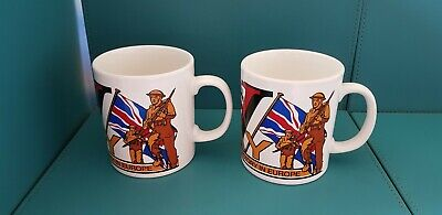 2 X Vintage VE Day 50th Anniversary Mugs. • 8.99£