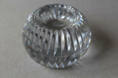 Wedgwood 1977 Clear Glass Paperweight • 15£