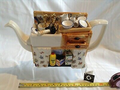 Cardew Large Novelty Teapot The Kitchen Sink In  Great Condition Ltd Edition • 35£