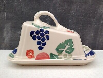 Royal Winton Hand Decorated Spongeware Covered Cheese Dish Design 'Tradition' • 20£