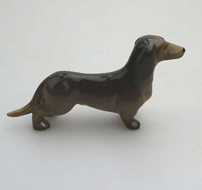W.R Midwinter Vintage Dachshund Dog Figurine Burslem Pottery • 27£