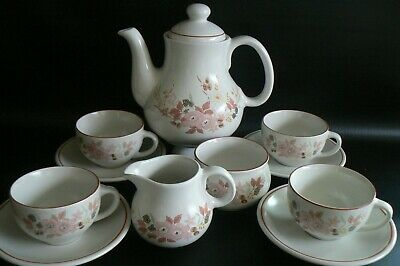 Boots Hedge Rose Teaset Tea Pot Milk Sugar Cups & Saucers Excellent Condition • 24£