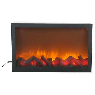 Wall Mountable LED Electric Plug In Flameless Log Fire Effect Fireplace Lantern  • 34.99£
