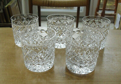 Set Of 5 Stuart Crystal Pattern No.36 7oz Rummers/Whisky Tumblers - 2 7/8  • 77.50£