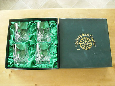 Unused Boxed Set Of 4 Galway Longford 12oz Double Old Fashioneds - >3 1/2 (9cms) • 47.50£