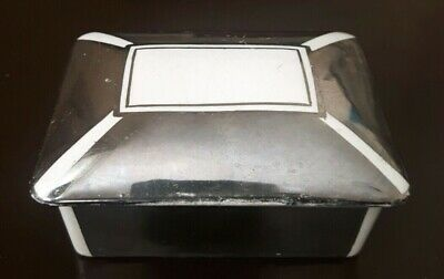 Vintage Rare Trinket Box Gray's Pottery Stoke On Trent Hand Painted Silver 10cm • 15£