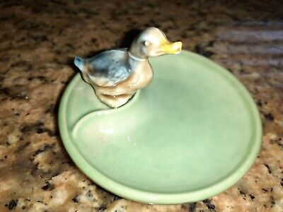Wade Whimtray Trinket Dish Green With Duck • 4.99£