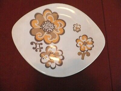 Retro 60 S  Sandalwood Lord Nelson Pottery Cake Plate • 4.50£