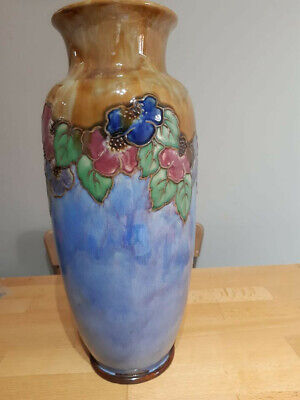 Royal Doulton Vase Ethel Beard C1922, 14  Tall. 100% Perfect. Pair Available • 125£