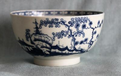 Antique Early Worcester Cannonball Pattern Porcelain Tea Bowl 18th Century • 75£