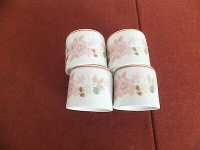 Boots Hedge Rose Napkin/Serviette Rings X 4 • 3£