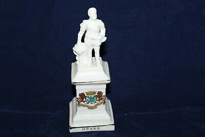 Devon Art Crested China Francis Drake Monument Plymouth Crest  • 4.99£