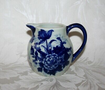 Beautiful Vintage Blue And White Floral Ironstone Jug • 15.99£