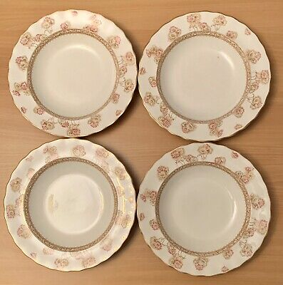 "4 William Whiteley Plates - Victorian - Furnivals - 26 Cm 10"" Universal Provider • 17.50£"