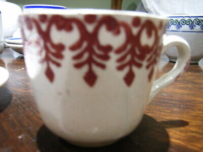 2 Antique Early Spongeware Minature Cups Portneuf/ Scottish Lovely Dainty Cups   • 12£