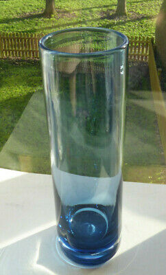 Vintage Wedgwood Cylinder Art Glass Vase R S Wilson Marked In Blue • 16£