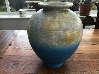 Nice Art Deco Large Colourful Bulbous Vase • 75£