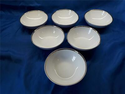 6 X THOMAS Germany White With Gold Trim  Dessert / Fruit Bowls 14  Cm Diameter • 12.98£