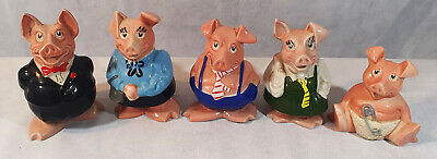 Complete Set Of Natwest Wade Pig Money Boxes, 1980's • 60£