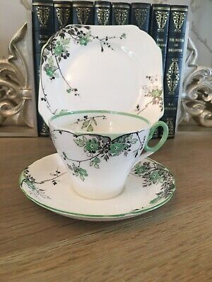 Art Deco Shelley Teacup Trio Vintage English China  • 45£
